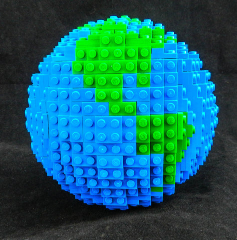Globe made of LEGO® elements