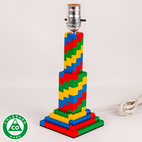 Candlestick Spiral Lamp made of LEGO® elements