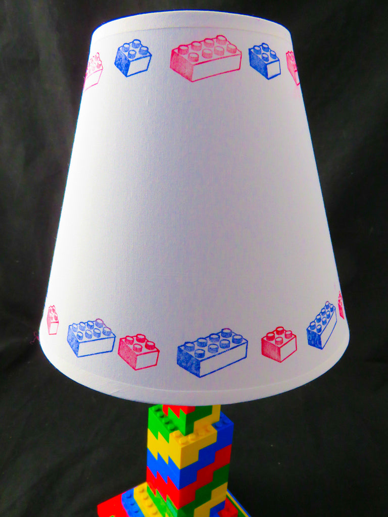 LEGO Themed Small Drum White Lamp Shade