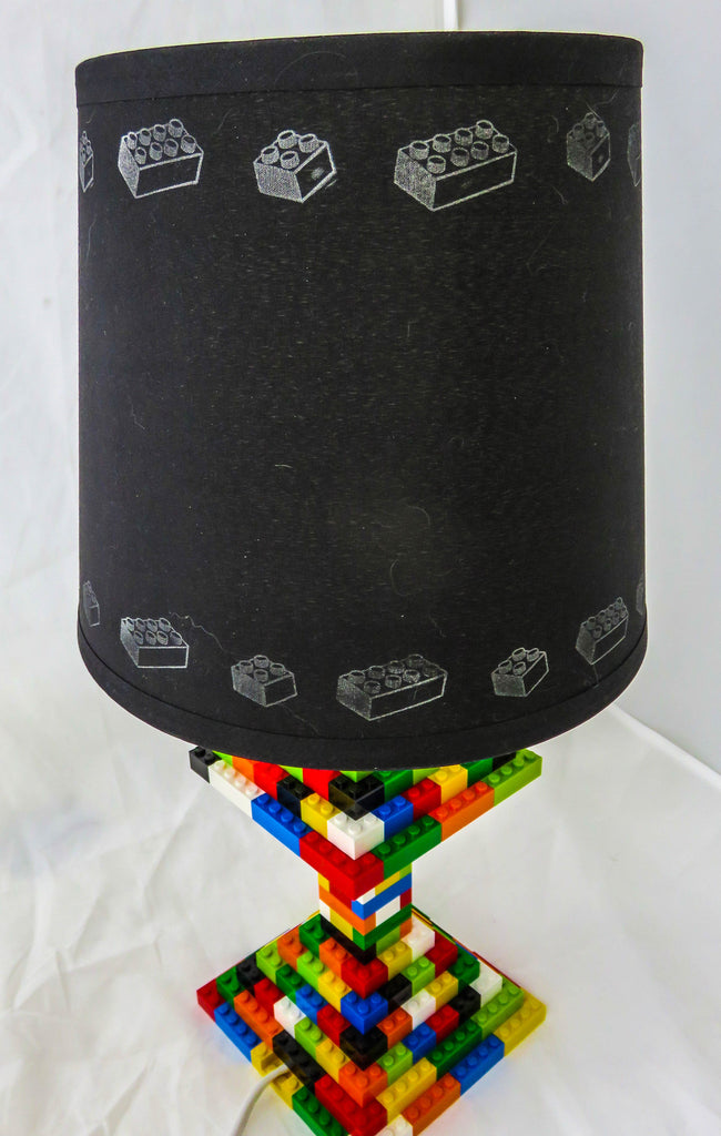 LEGO Themed Medium Drum White or Black Lamp Shade