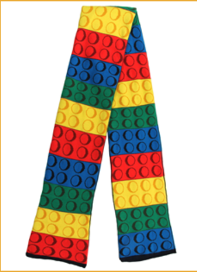 Lego Themed Knit Scarf