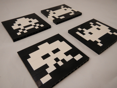 Space Invaders Retro LEGO Coasters Set