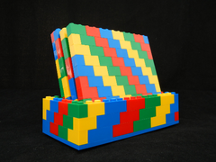 Classic Colors LEGO Coasters Set and Stand