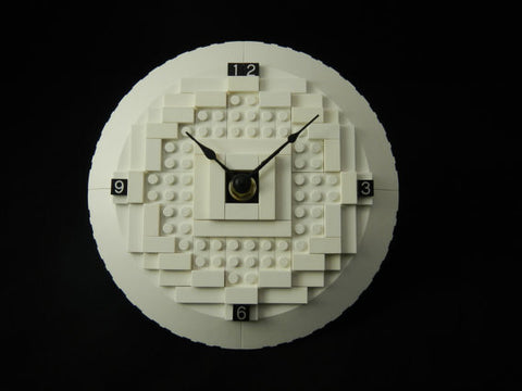 3d LEGO (R) Desk Clock White