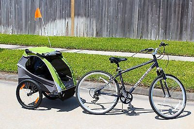 New Burley D'Lite Child Bike Bicycle Trailer - Green