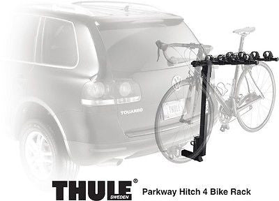 New Thule Parkway 4 Bike Hitch Mount Bicycle Rack! 2 inch Receiver
