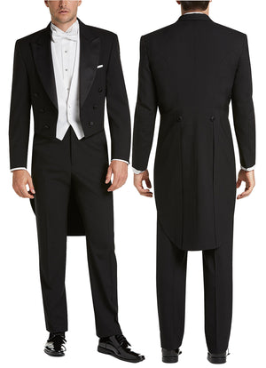 Bundle 3: Men's Full Dress Tail Coat Tuxedo