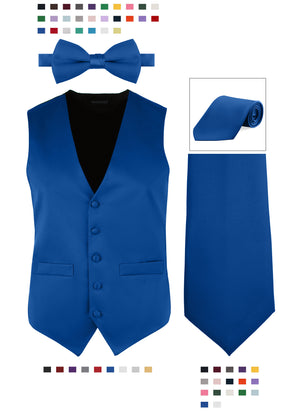 Bundle 4: Men's Satin Vest & Bowtie or Tie