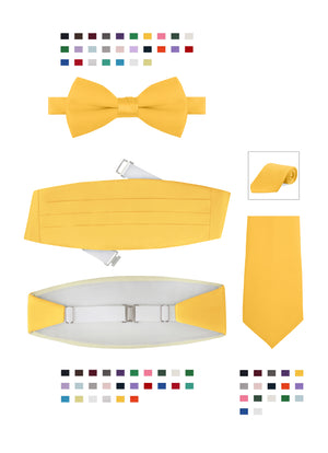 Bundle 5: Men's Satin Cummerbund & Bowtie or Tie