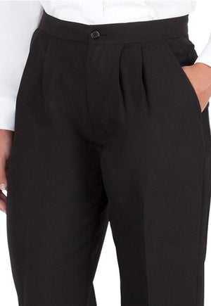 Women's Black, Pleated Front, Comfort-Waist Dress Pants