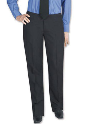 Women's Black, Flat Front, Comfort-Waist Basic Pants