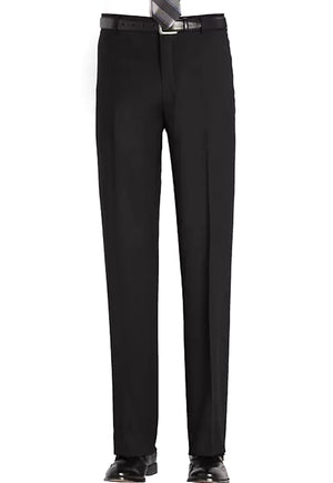 Men's Black, Flat Front, Dress Pants
