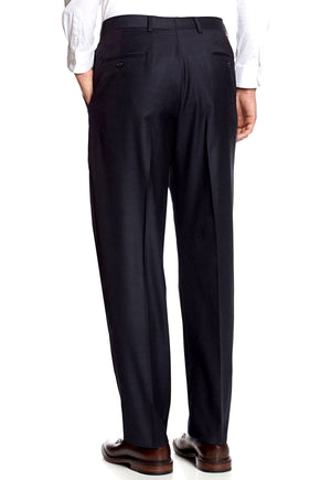 Men's Black Pleated Front Dress Pants