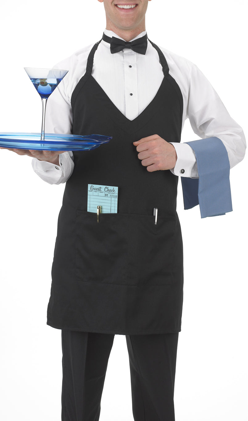 2-Pocket, Black Formal Apron