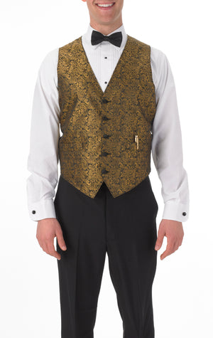 Men's Full Back Paisley Print Vest