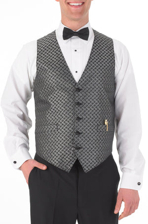 Men's Full Back Sticks and Stones Print Vest