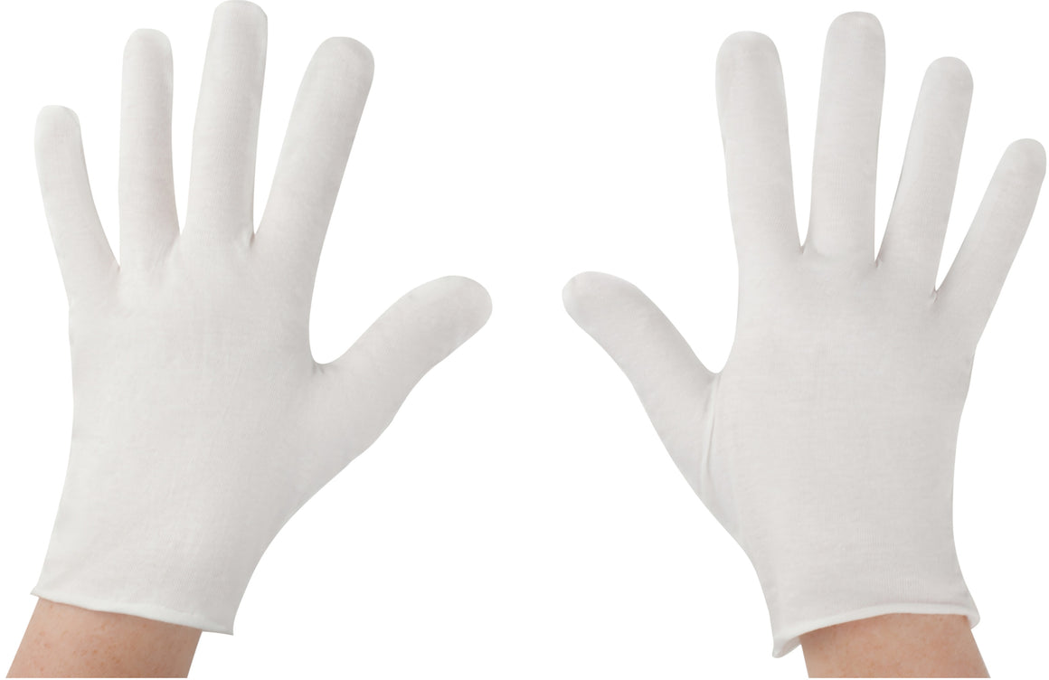 White, Lightweight, Cotton Gloves