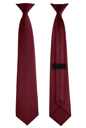 Clip-On, Straight, Rich Satin Tie