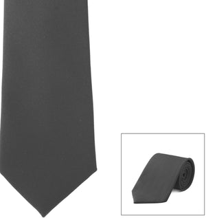 Straight Poly Satin Tie