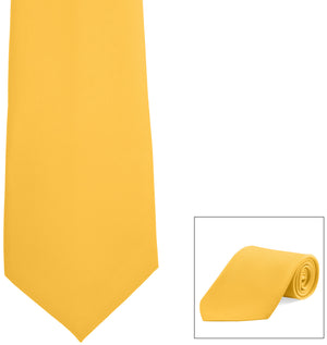 Clip-On, Straight, Poly Satin Tie