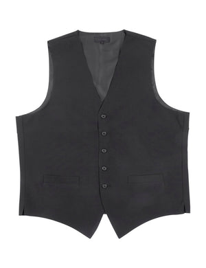 Men's Black, Full Back, Long Cut Vest