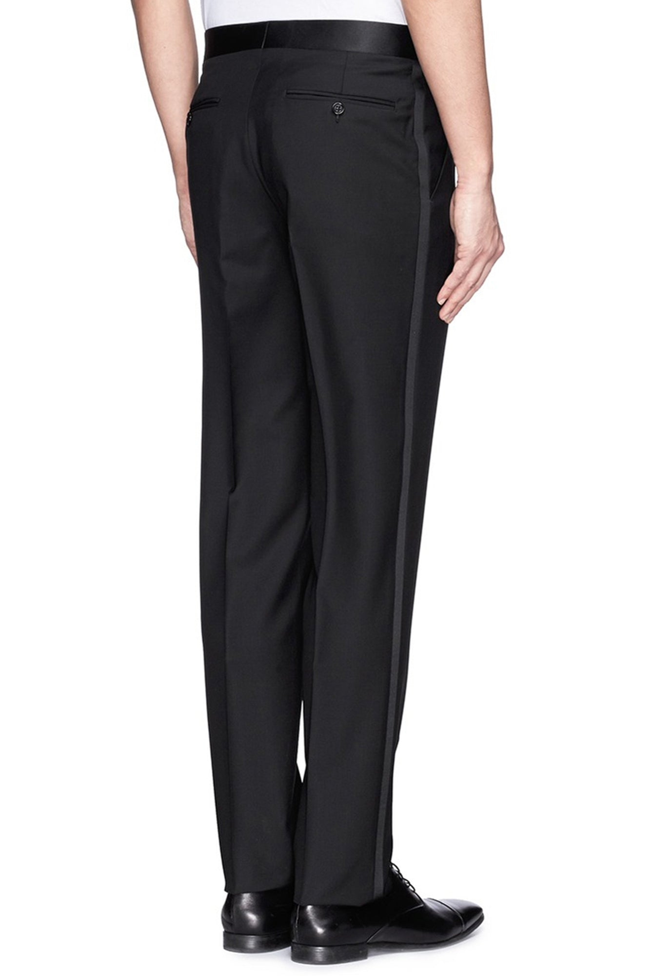 Comfort Fit Mens Tuxedo Trousers Pleated Front Waist  50