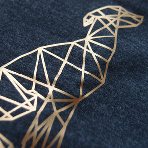 Beanie »Geometric Dog in Dunkelgrau | Gold«