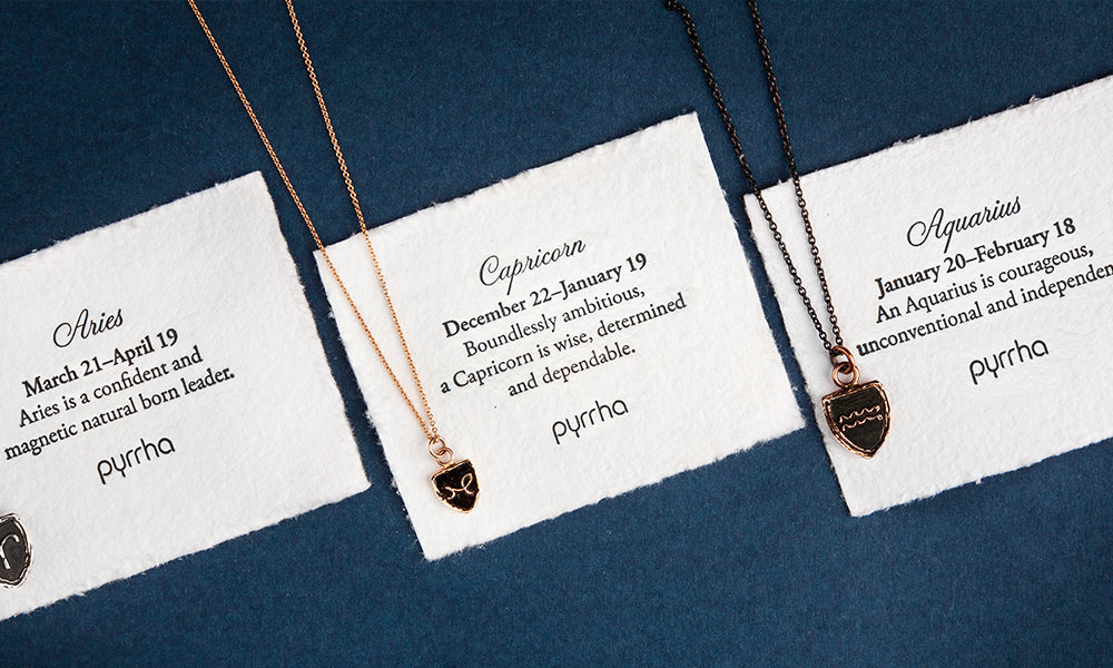Guided by the stars: Zodiac necklaces