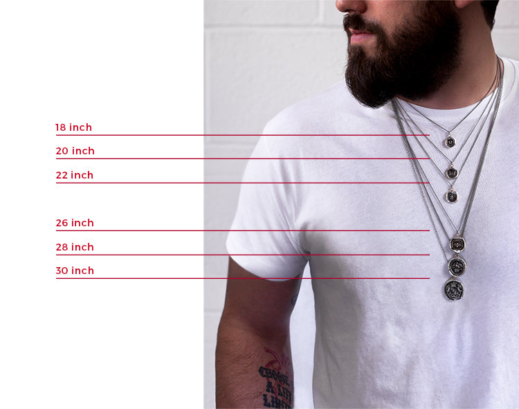 men necklace chains lengths