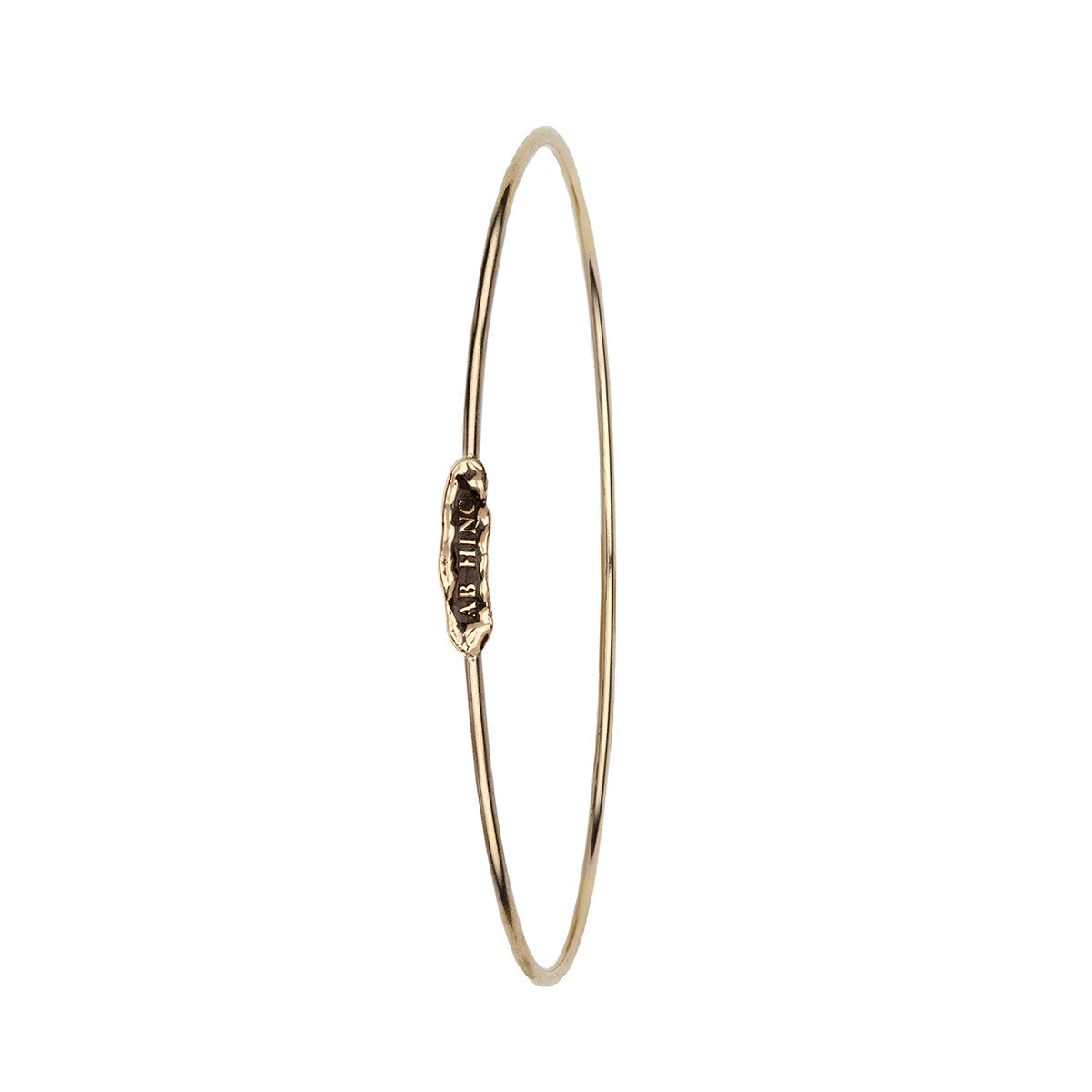 Ab Hinc (From Here On) 14K Gold Polished Bangle