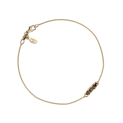 Ab Hinc (From Here On) 14K Gold Latin Bar Bracelet