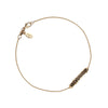 Amor Aeternus (Eternal Love) 14K Gold Latin Bar Bracelet