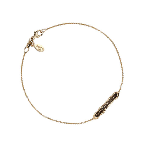 Amor Aeternus (Eternal Love) 14K Gold ID Chain Bracelet
