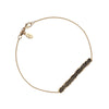 Amor Est Spiritus Qui Nos Alet (Love is the Breath that Sustains Us) 14K Gold Latin Bar Bracelet