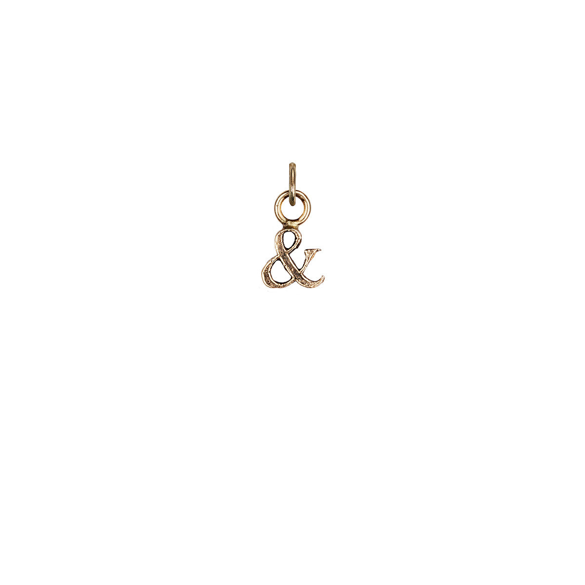 Ampersand 14K Gold Charm
