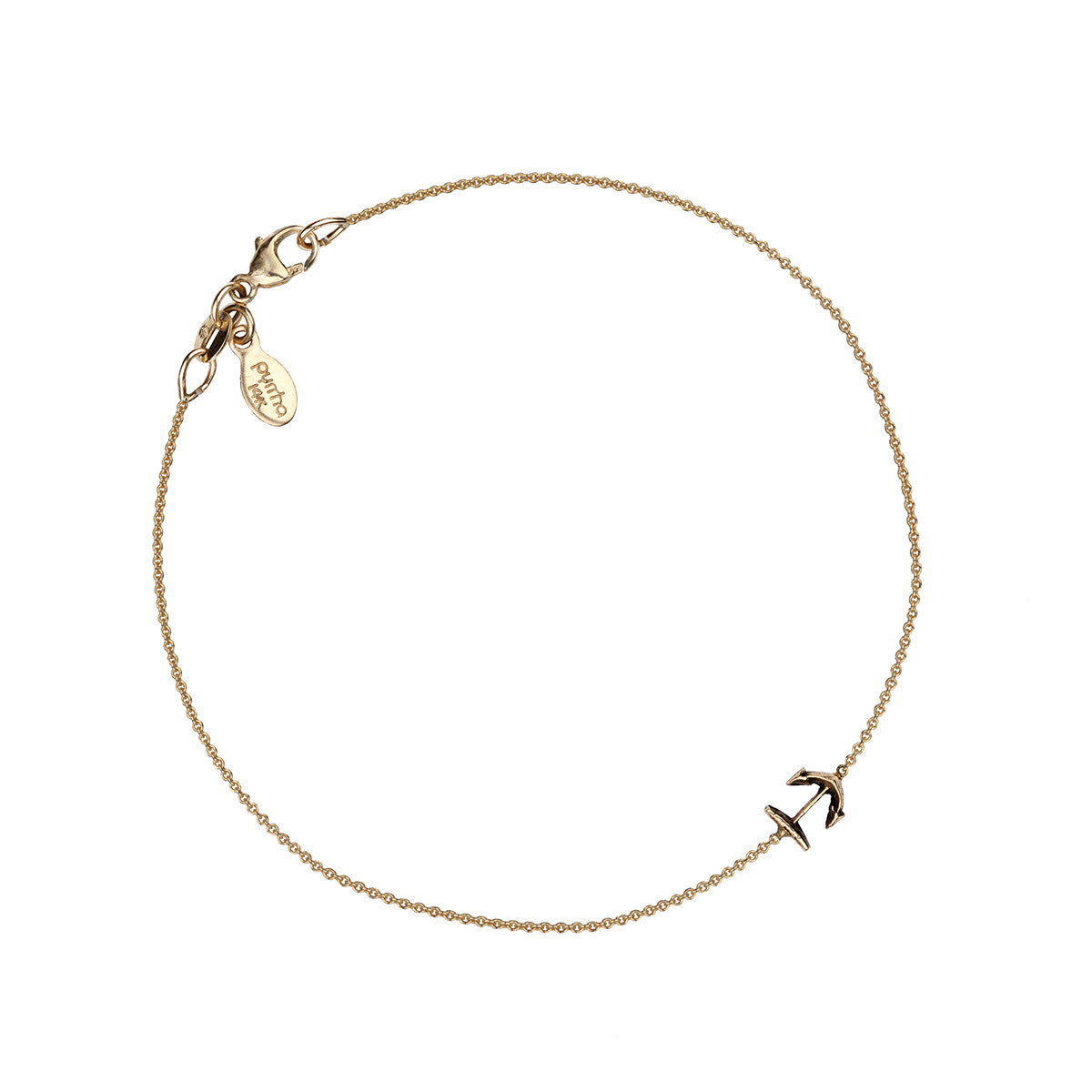 Anchor 14K Gold Symbol Chain Bracelet