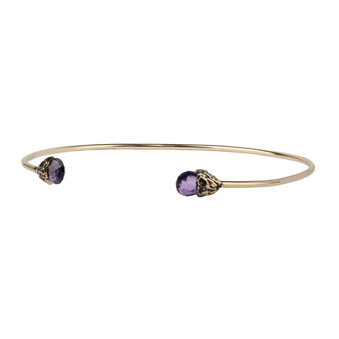 Balance 14K Gold Capped Attraction Charm Open Bangle