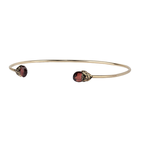 Clarity 14K Gold Capped Attraction Charm Open Bangle