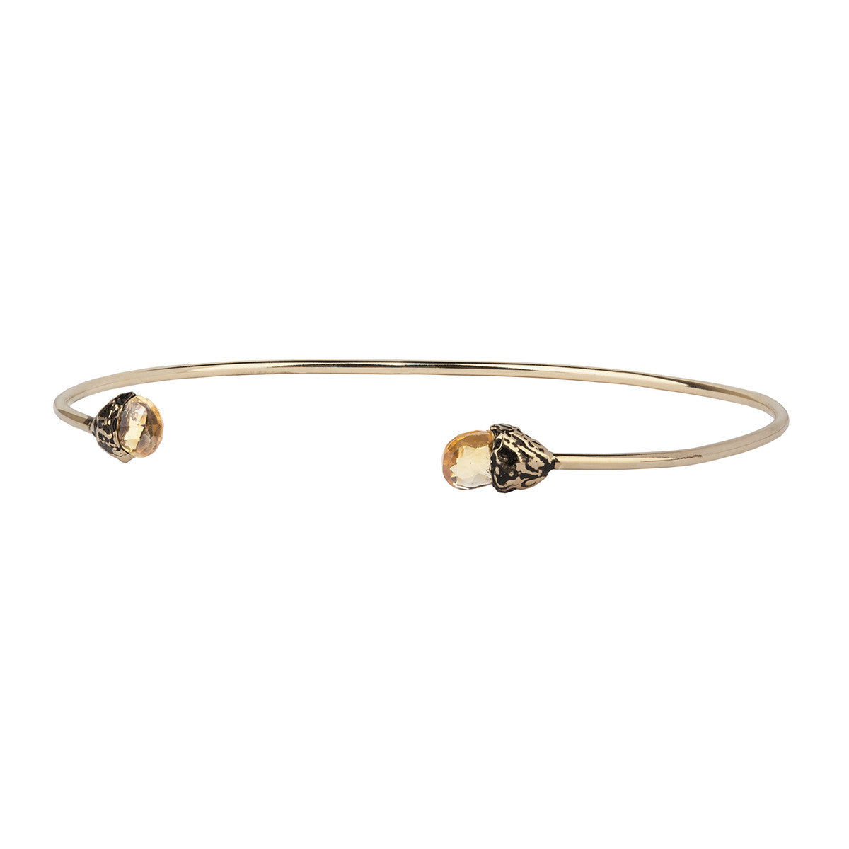 Confidence 14K Gold Capped Attraction Charm Open Bangle