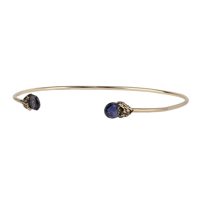 Creativity 14K Gold Capped Attraction Charm Open Bangle