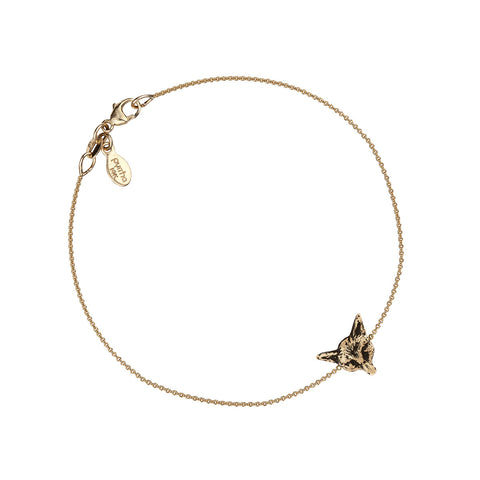 Fox 14K Gold Talisman Chain Bracelet