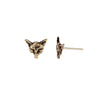 Fox 14K Gold Talisman Stud