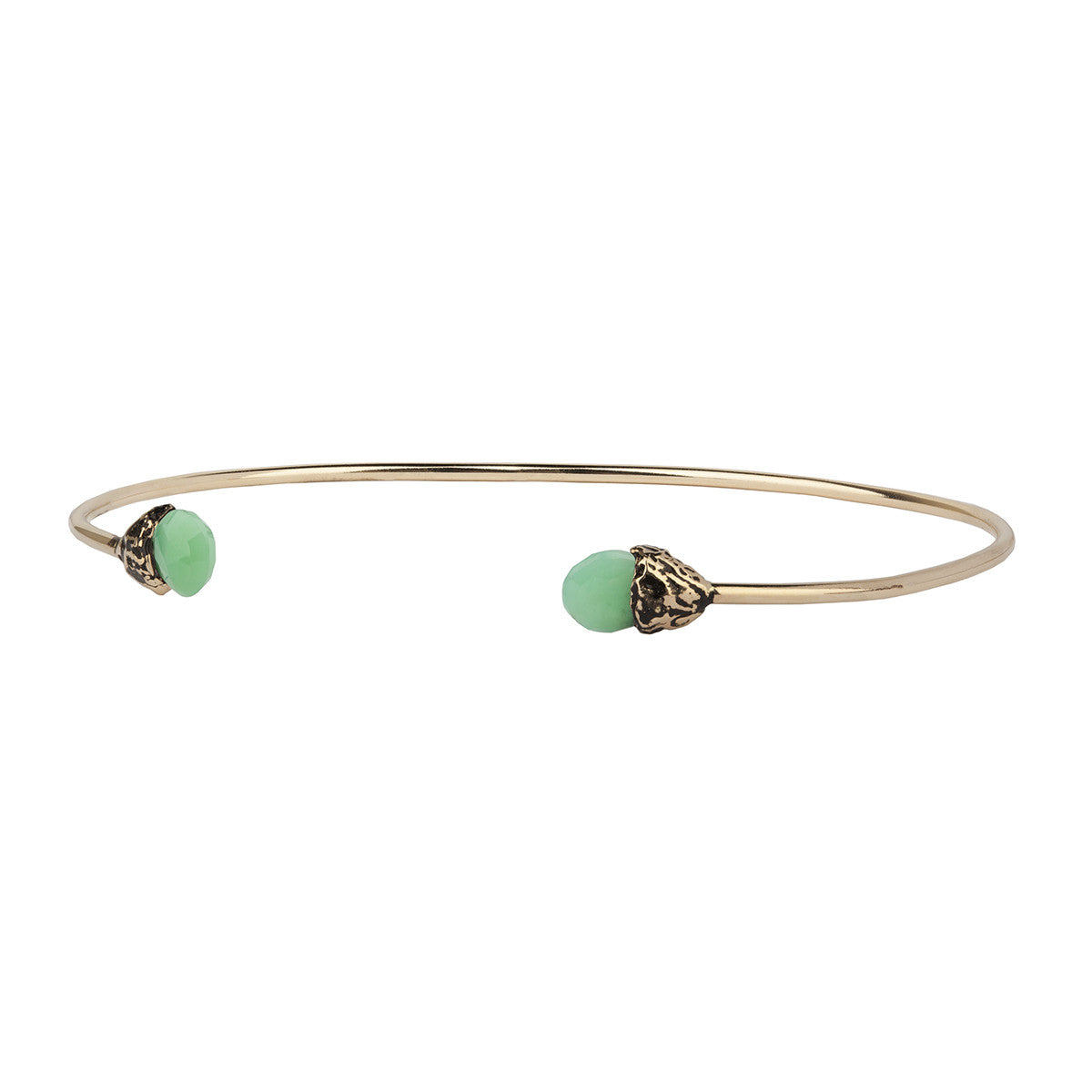 Healing 14K Gold Capped Attraction Charm Open Bangle