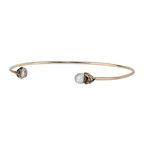 Improvement 14K Gold Capped Attraction Charm Open Bangle