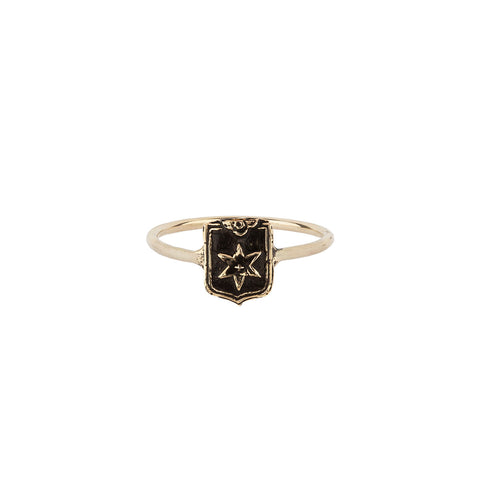 Look Within 14K Gold Talisman Ring