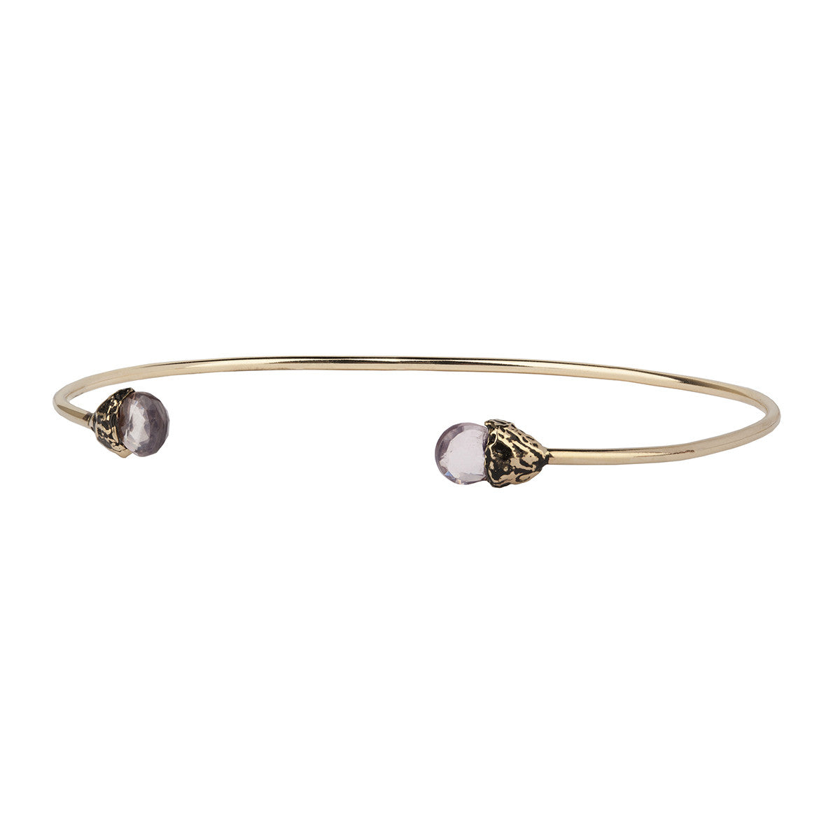 Love 14K Gold Capped Attraction Charm Open Bangle