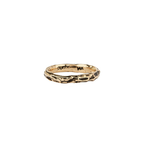 Narrow 14K Gold Textured Band Ring