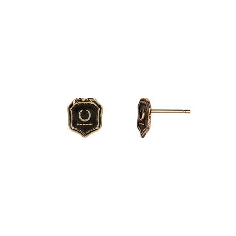 New Beginnings 14K Gold Talisman Stud Earrings