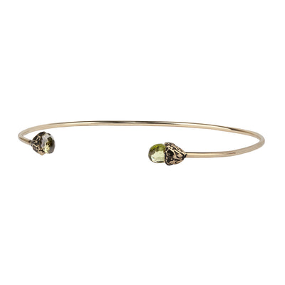 Positivity 14K Gold Capped Attraction Charm Open Bangle