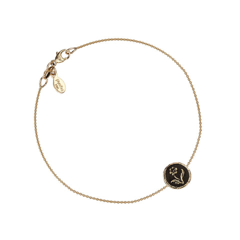 Rose 14K Gold Talisman Chain Bracelet